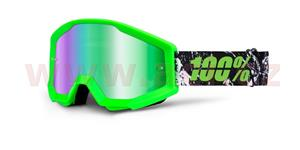 brýle Strata Crafty Lime, 100% - USA (zelená , zelené chrom plexi s čepy pro slídy)