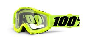okuliare Accuri Fluo Yellow 100% žltá čiré plexi s čepy pre slídy