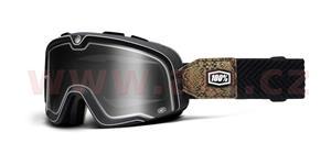 custom okuliare Barstow Classic Snake River 100% čierna kouřové plexi