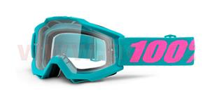 brýle Accuri Passion, 100% - USA (zelená , čiré plexi s čepy pro slídy)