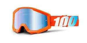 okuliare Strata Orange 100% oranžová modré chrom plexi s čepy pre slídy
