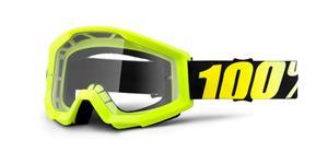 brýle Strata Neon Yellow, 100% - USA, (žlutá , číré plexi s čepy pro slídy)