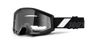 brýle Strata Goliath, 100% - USA (černá , čiré plexi s čepy pro slídy)