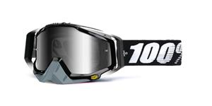 okuliare Racecraft Abyss Black 100% střírbné chrom plexi + čiré plexi + Chránič nosu +20 strhávaček
