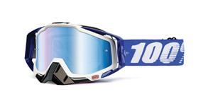 brýle Racecraft Cobalt Blue, 100% - USA (modré chrom plexi + čiré plexi + chránič nosu +20 strhávaček)