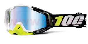 brýle Racecraft Emrata, 100% - USA (modré chrom plexi + čiré plexi + chránič nosu +20 strhávaček)