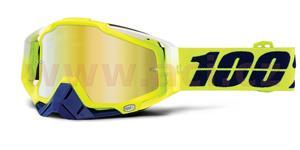 brýle Racecraft Tanaka, 100% - USA (zlaté chrom plexi + čiré plexi + chránič nosu +20 strhávaček)