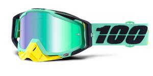 brýle Racecraft Kloog, 100% - USA (zelené chrom plexi + čiré plexi + chránič nosu +20 strhávaček)