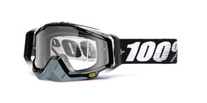 okuliare Racecraft Abyss Black 100% čiré plexi + Chránič nosu +20 strhávaček