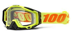okuliare Racecraft Attack Yellow 100% čiré plexi + Chránič nosu +20 strhávaček