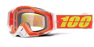 okuliare Racecraft Razmataz 100% čiré plexi + Chránič nosu +20 strhávaček