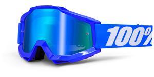 brýle Accuri Reflex Blue, 100% - USA (modrá , modré chrom + čiré plexi s čepy pro slídy)