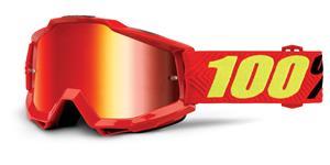 brýle Accuri Saarinen, 100% - USA (červená , červené chrom + čiré plexi s čepy pro slídy)