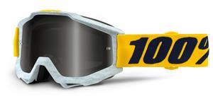 okuliare Accuri Athleto 100% biela/mramor stieborné chrom + čiré plexi s čepy pre slídy