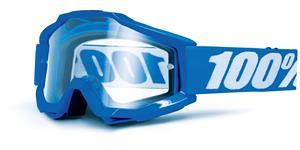 brýle Accuri Reflex Blue, 100% - USA (modrá , čiré plexi s čepy pro slídy)
