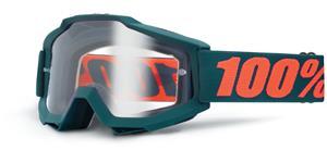 brýle Accuri Matte Gunmetal, 100% - USA (černá , čiré plexi s čepy pro slídy)