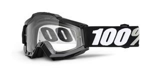 brýle Accuri Tornado, 100% - USA (černá , čiré plexi s čepy pro slídy)