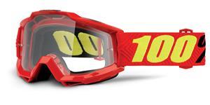brýle Accuri Saarinen, 100% - USA (červená , čiré plexi s čepy pro slídy)