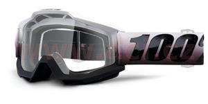 brýle Accuri Invaders, 100% - USA (bílá/černá , čiré plexi s čepy pro slídy)