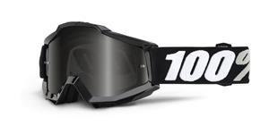 brýle Accuri SAND Tornado, 100% -USA (černá , šedé plexi s čepy pro slídy)
