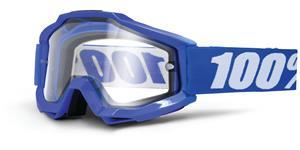 okuliare Accuri ENDURO Reflex Blue 100% - modrá čiré dual plexi s čepy pre slídy