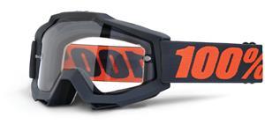 okuliare Accuri ENDURO Gunmetal 100% - čierna čiré dual plexi s čepy pre slídy
