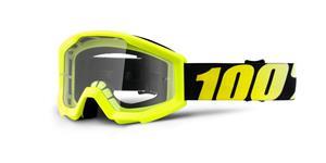 brýle Strata Neon Yellow, 100% - USA dětské (žlutá , čiré plexi s čepy pro slídy)