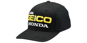 kšiltovka EAST Geico Honda Flexfit 100% USA čierna vel. L XL