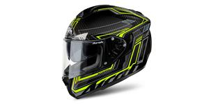 prilba ST 701 Safety full carbon AIROH carbon žltável. S