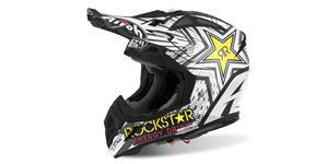 přilba AVIATOR 2.2 Rockstar, AIROH - Itálie (bílá/černá/žlutá, vel. M)
