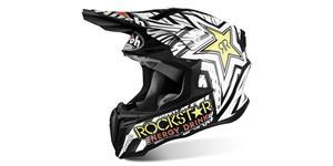 prilba TWIST Rockstar AIROH biela čierna vel. M