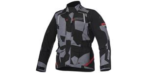bunda ANDES Drystar 2017 ALPINESTARS čierna šedá camo červená vel. XL