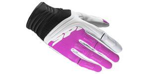 rukavice MEGAX SPIDI dámské biela růžová vel. L