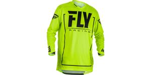 dres LITE 2018 FLY RACING USA hivis čierna vel. 2XL