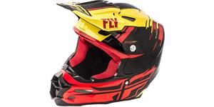 přilba F2 Carbon PEICK REPLICA, FLY RACING - USA (červená/černá/žlutá,se systémem ochrany MIPS , vel. S)