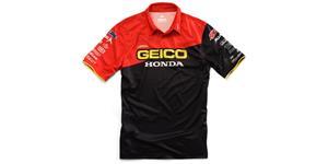 triko s límečkem Team Geico Honda, 100% - USA (černá, vel. M)