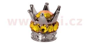 kovové čiapočky ventilkov Crown OXFORD UK strieborná/zlatá pár