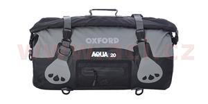 Vodotesný vak Aqua20 Roll Bag OXFORD UK čierny/šedý objem 20l