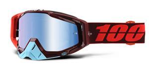brýle Racecraft Kikass, 100% - USA (modré chrom plexi + čiré plexi + chránič nosu +20 strhávaček)