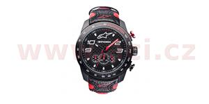 hodinky TECH RACE CHRONO ALPINESTARS  čierna/červená kožený Opasok