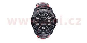 hodinky TECH RACE ALPINESTARS  čierna/červená kožený Opasok