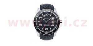 hodinky TECH STEEL ALPINESTARS  broušený nerez/čierna pryžový Opasok