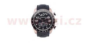 hodinky TECH CHRONO PVD GOLD ROSE ALPINESTARS  zlatá/čierna pryžový Opasok