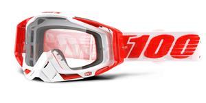okuliare Racecraft Bilal 100% čiré plexi + Chránič nosu +10 strhávaček