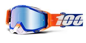 okuliare Racecraft Roxburry 100% modré chrom plexi + čiré plexi + Chránič nosu +20 strhávaček