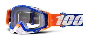 okuliare Racecraft Roxburry 100% čiré plexi + Chránič nosu +10 strhávaček