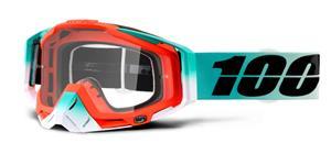 brýle Racecraft Cubica, 100% - USA (čiré plexi + chránič nosu +10 strhávaček)