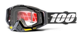 brýle Racecraft Fortis, 100% - USA (čiré plexi + chránič nosu +10 strhávaček)