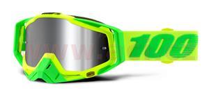 okuliare Racecraft PLUS Sour Soul 100% Injected chrom plexi stieborné + čiré plexi + Chránič nosu +20 strhávaček