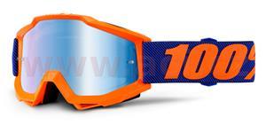 okuliare Accuri Origami 100% modré chrom plexi + čiré plexi s čepy pre slídy